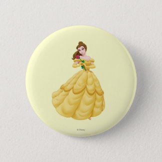 Belle Holding Rose Button