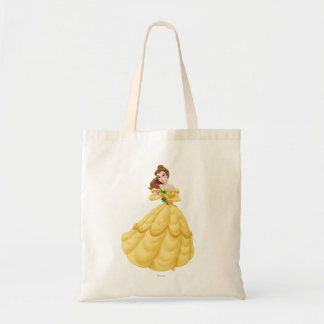 Belle Holding Rose Tote Bag