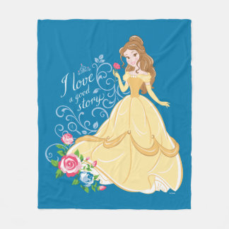 Belle   I Love A Good Story Fleece Blanket