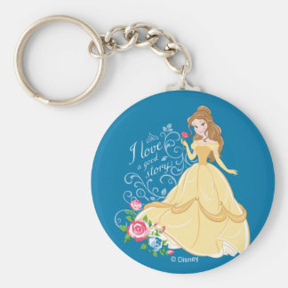 Belle | I Love A Good Story Keychain