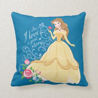 Belle | I Love A Good Story Throw Pillow