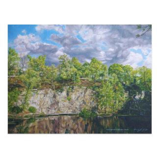 Belle Island Quarry Pond Postcard