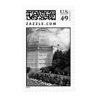 Belle-Isle-Conservatory-B&W Stamp