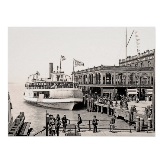 Belle Isle Ferry Dock Poster