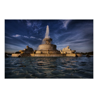 Belle Isle Fountain #0416 Poster
