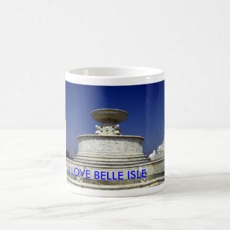 BELLE ISLE FOUNTAIN, I LOVE BELLE ISLE CLASSIC WHITE COFFEE MUG