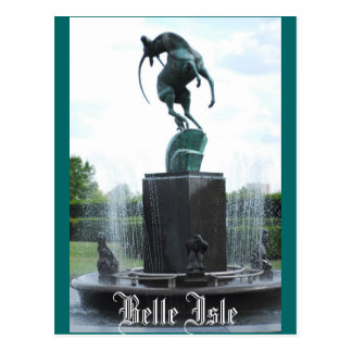 Belle Isle Fountain Post Card
