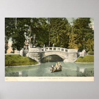 Belle Isle Park, Detroit 1910 Vintage Poster