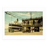 Belle Isle Steamer, Woodward Ave. Landing, Detroit Postcard