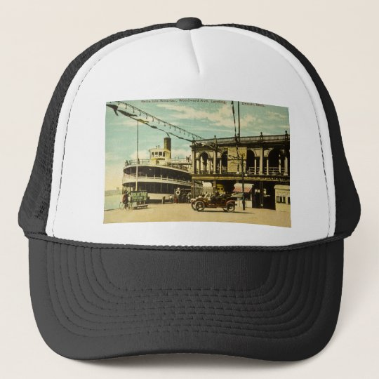 Belle Isle Steamer, Woodward Ave. Landing, Detroit Trucker Hat