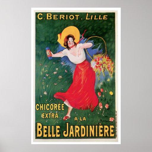 Belle Jardiniere Chicoree Vintage Food Ad Art Poster