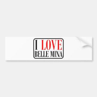 Belle Mina, Alabama City Design Bumper Sticker