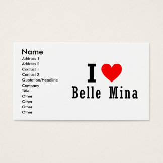 Belle Mina, Alabama City Design Business Card