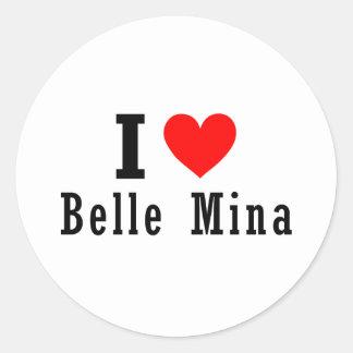 Belle Mina, Alabama City Design Classic Round Sticker