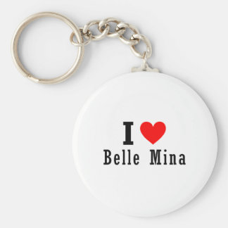 Belle Mina, Alabama City Design Keychain