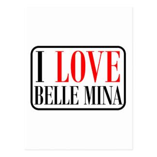 Belle Mina, Alabama City Design Postcard