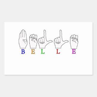 BELLE NAME ASL FINGERSPELLED STICKER