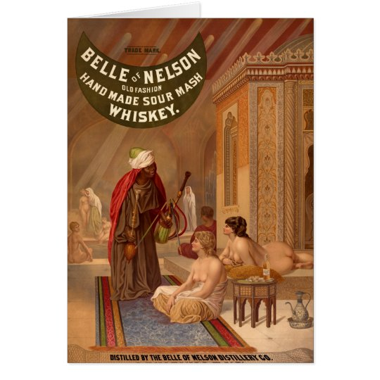 Belle of Nelson Whiskey Vintage Poster Card