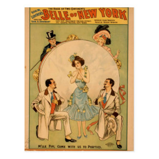 Belle of new york post cards