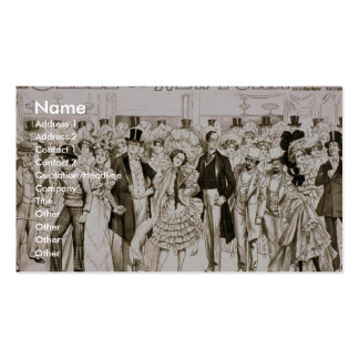 Belle of new york Vintage Theater Double-Sided Standard Business Cards (Pack Of 100)