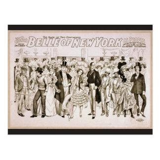 Belle of new york Vintage Theater Postcard