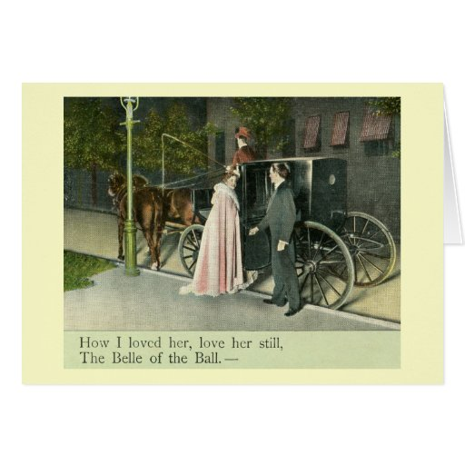 Belle of the Ball Love Vintage Card