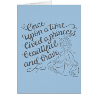 Belle |Once Upon A Time Card