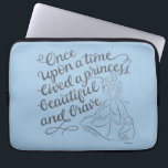 "Belle |Once Upon A Time Laptop Sleeve<br><div class=""desc"">This image features a silhouette of Belle,  and the saying &quot;Once upon a time lived a princess beautiful and brave&quot;.</div>"