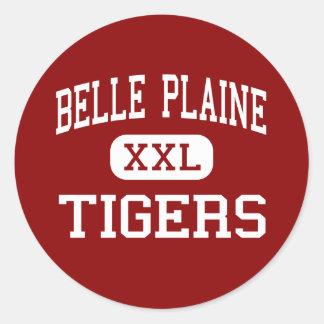 Belle Plaine - Tigers - Junior - Belle Plaine Classic Round Sticker