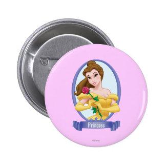 Belle Princess 2 Inch Round Button