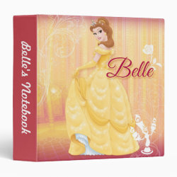 Avery Signature 1' Binder with Belle in golden ball gown design