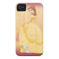 Belle in golden ball gown Case-Mate iPhone 4 Barely There Universal Case