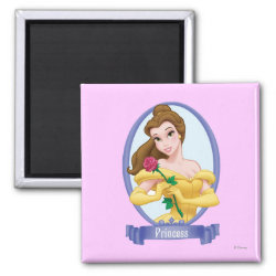 Square Magnet with Princess Belle of Beauty and the Beast design