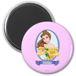 Round Magnet with Princess Belle of Beauty and the Beast design