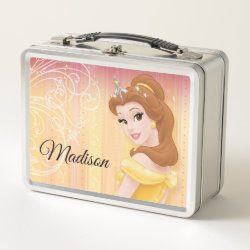 Metal Lunch Box with Belle in golden ball gown design