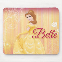 Mousepad with Belle in golden ball gown design