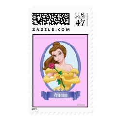 Medium Stamp 2.1' x 1.3' with Princess Belle of Beauty and the Beast design