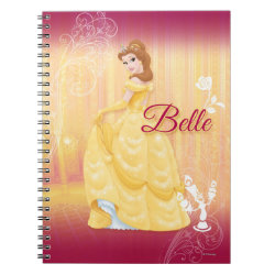 Photo Notebook (6.5' x 8.75', 80 Pages B&W) with Belle in golden ball gown design