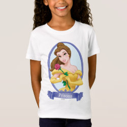 Girls' Fine Jersey T-Shirt with Princess Belle of Beauty and the Beast design