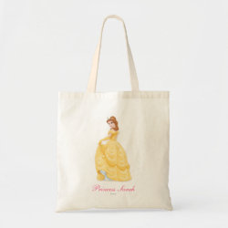 Belle in golden ball gown Budget Tote