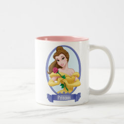 Two-Tone Mug with Princess Belle of Beauty and the Beast design