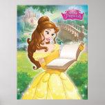 Belle Reading in Garden Poster