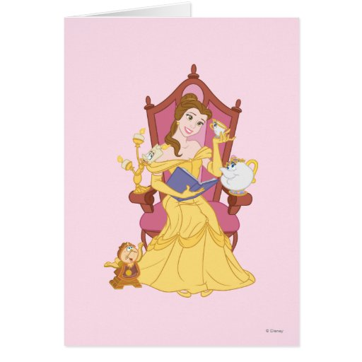 Belle Reading to Friends Greeting Card