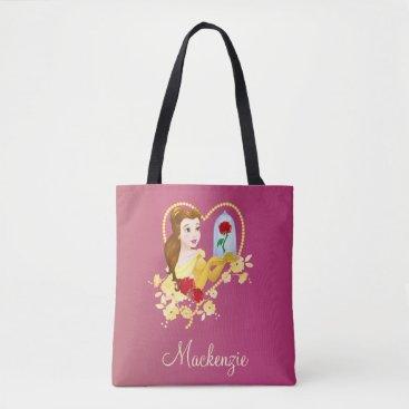 Disney Themed Belle   Red Roses Tote Bag