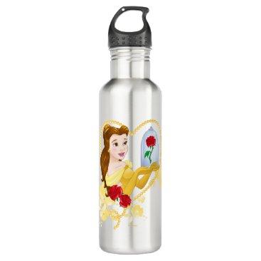 Disney Themed Belle   Red Roses Water Bottle