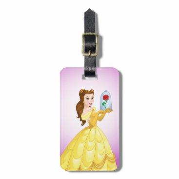 Disney Themed Belle   Rose In Glass Bag Tag