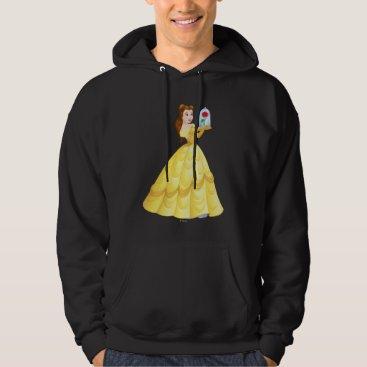 Disney Themed Belle   Rose In Glass Hoodie