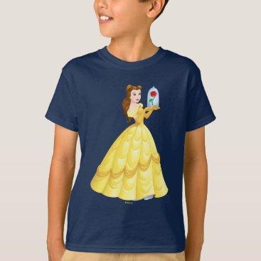 Disney Themed Belle   Rose In Glass T-Shirt