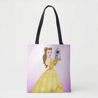 Belle | Rose In Glass Tote Bag