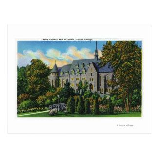 Belle Skinner Music Hall, Vassar College Postcard